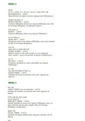 Menu Le Lac Tana - Les menus