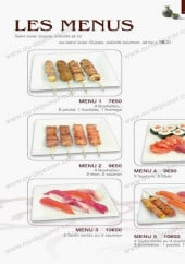 Menu Nomiya - Les menus: menu 1, menu 2,......