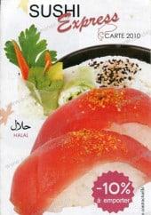 Menu Sushi Express - Carte et menu sushi express