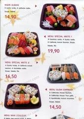 Menu Sushi Express - Les menus
