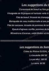 Menu Le Beaujolais d'Auteuil - Les specialités