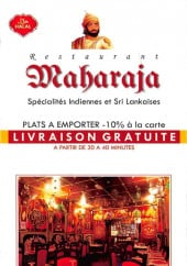 Menu Maharaja - Carte et menu Maharaja Paris 17