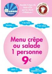 Menu Mumble Crêpe - Carte et menu Mumble Crêpe Paris 17