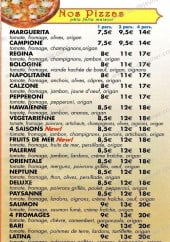 Menu Pizza Di Roma - Les pizzas