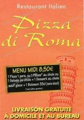 Menu Pizza Di Roma - Carte et menu de Di Roma à Paris 17