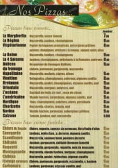 Menu Pizza Saveur - Les pizzas