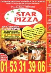 Menu Star Pizza - star pizza paris menu et carte