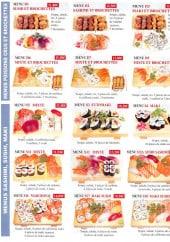 Menu Tokio Sakanaya - Les menus poissons crues, sushis,....