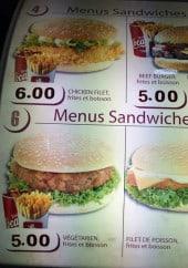 Menu All Chicken - Les menus sandwiches