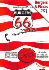 Menu Burgers 66 - Carte et menu Burgers 66 Paris 18