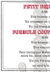 Menu Café Francoeur - Le petit déjeuner à 5,9€et formule coup de coeur à 9,5€