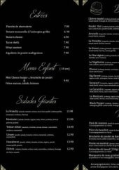 Menu French Home - Le menu