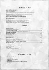 Menu Hypster Lounge - Entrées, plats et desserts