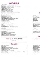 Menu L'avenue - Les cocktails, les glaces, les vins et les entrées...