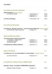 Menu La Mascotte - Les huîtres