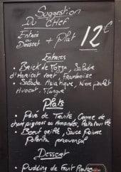 Menu Le gabin - Exemple de menu du jour