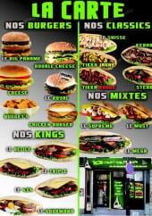Menu Le Paname - Les burgers