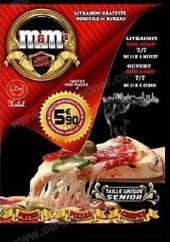 Menu m&m's pizza - carte et menu m&m's pizza paris 18
