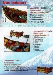 Menu Osaka - Les Bateaux