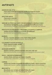 Menu Pizza Caratello - Les entrées