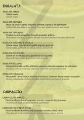Menu Pizza Caratello - Les salades et carpaccio