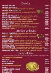 Menu Samrana - Les entrées, les pains maisons et plats