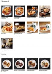 Menu Starbucks coffee - Les viennoiseries et muffins
