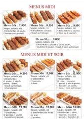 Menu Toyama - Les menus midi et menus speciaux