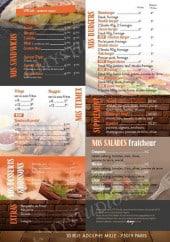 Menu Domicile Pizza - Les sandwiches, les burgers,......
