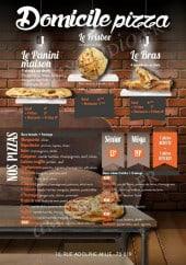 Menu Domicile Pizza - Les paninis, les frisbees, les bras et les pizzas