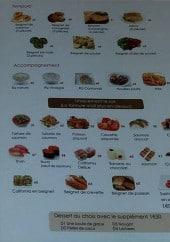 Menu Muki Sushi - Les tempuras, les accompagnements,....