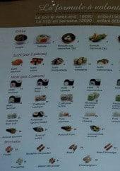 Menu Muki Sushi - Les formules à volonté, les entrées,....
