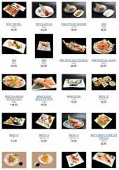 Menu Asahi - Les menus