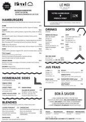 Menu blend - Les menus