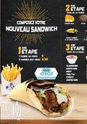 Menu Kooltoo - Les nouveaux sandwiches