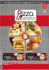 Menu Pizza Du Maestro - Carte et menu Pizza Du Maestro Paris 20