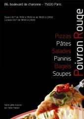 Menu Poivron Rouge - Carte et menu de Poivron Rouge à Paris 20