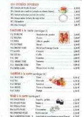 Menu Sushi sakanaya - Les entrées diverses, ...