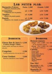 Menu Casari - Les petits plus, les desserts et les boissons