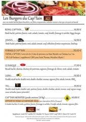 Menu Le Cap'Tain - Les burgers (suite)