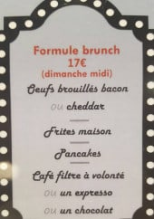 Menu New York Coffee - Formule brunch
