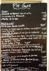 Menu P'tit gars - Exemple de menu