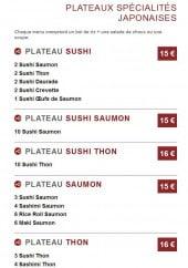 Menu Sushi Style - Les Plateaux