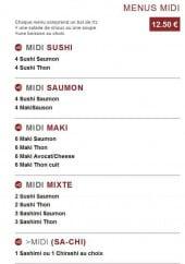 Menu Sushi Style - Les Menus Midi