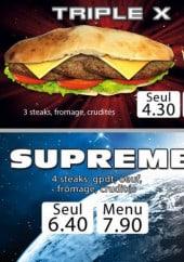 Menu Crunchy Food - Triple x, supreme et kefta