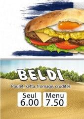 Menu Crunchy Food - Beldi et frenchy