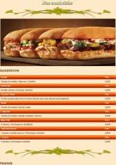 Menu Le Pacha - Les Sandwichs