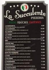 Menu La Succulente - Les pizzas et baguettines