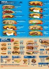 Menu L'Etoile Orientale - Les menus