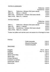 Menu Ô3D Délices & Douceurs Dieppois - Les pâtes classiques, les pâtes farcies